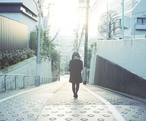 alone, girl, and japan image