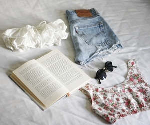 book, fashion, and summer image