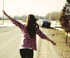 girl and road image