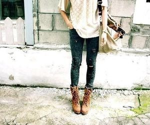 fashion, girl, and boots image