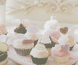 food, pink, and cupckake image