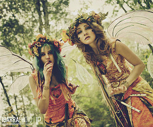 fairy, girl, and forest image