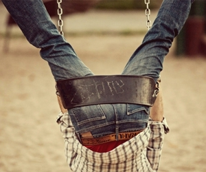 boy, swing, and photography image