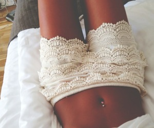shorts, summer, and white image