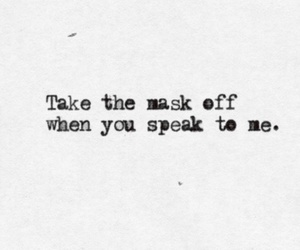 mask and text image