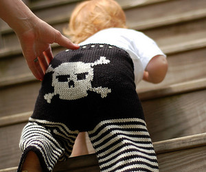 baby, jolly roger, and pirate image