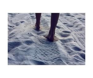 beach, sand, and feet image