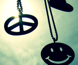 peace, smile, and heart image