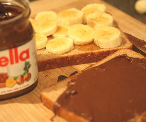 banana, pao, and nutella image