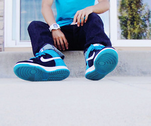 nike, blue, and swag image
