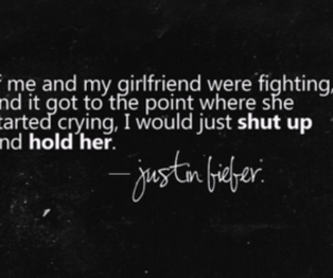 quote, girlfriend, and justin bieber image
