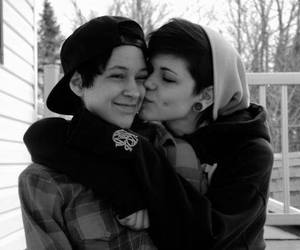 black and white, gay, and girls image