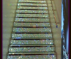 stairs, glitter, and sparkle image