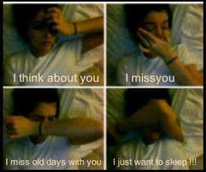 sleep, sad, and miss you image