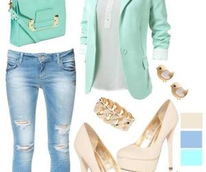 cardigan, mint, and outfits image