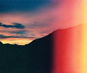 sunset, vintage, and landscape image