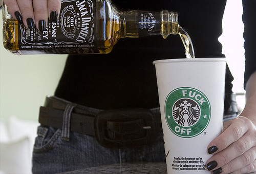 alcohol, starbucks, and coffee image
