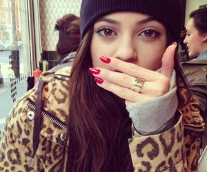 kylie jenner, nails, and red image