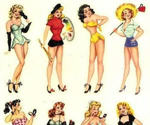 vintage, Pin Up, and retro image