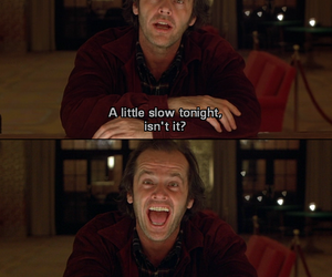 The Shining, jack nicholson, and laugh image