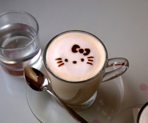 hello kitty and coffee image