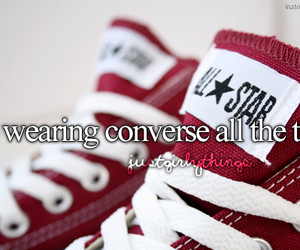 converse, girl, and red image