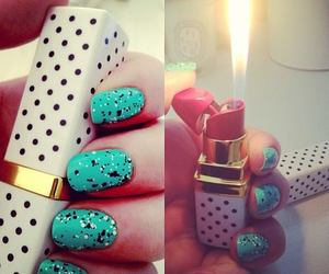 nails, lipstick, and lighter image