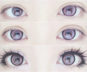 eyes, makeup, and kawaii image