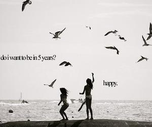 happy, quotes, and bird image