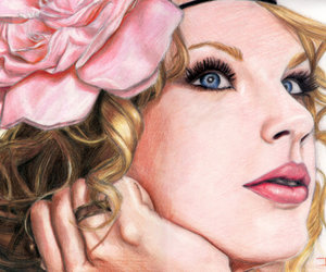 draw, Taylor Swift, and flower image
