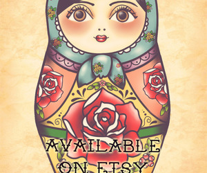 etsy, Matryoshka, and nesting doll image
