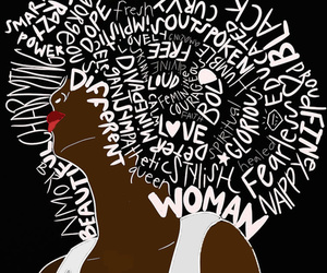 Afro and woman image