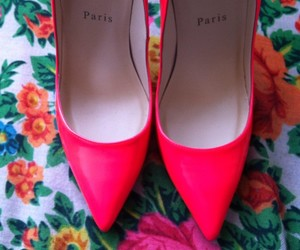 shoes, christian louboutin, and pink image
