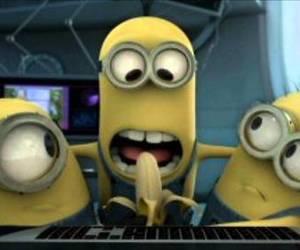 minions, cute, and banana image