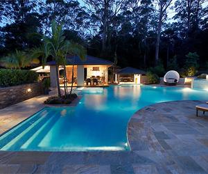 pool and cabaña image