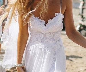 beach, dress, and laces image