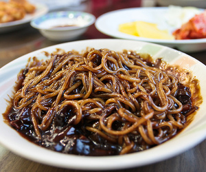 food, korean, and noodles image