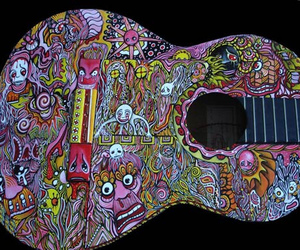 acoustic, art, and guitar image