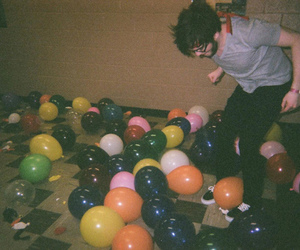 boy, balloons, and party image