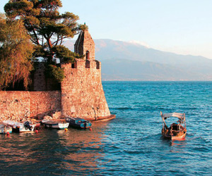 boat, boats, and Greece image