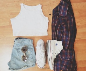 all star, converse, and jeans image