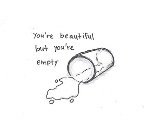 quote, beautiful, and empty image