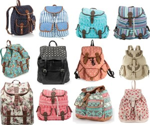 backpack, fashion, and bags image