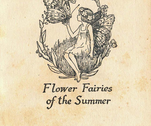 fairy, flowers, and book image
