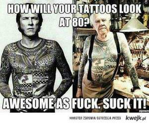 tattoo, awesome, and old image