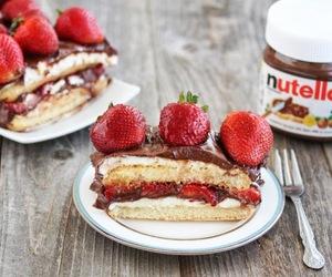 cake, strawberry, and tiramisu image