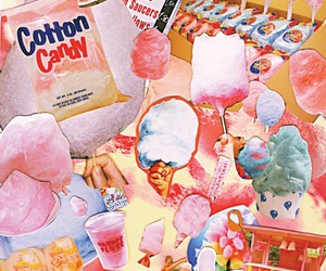 cotton candy and pink image
