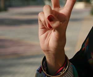 peace, hand, and nails image