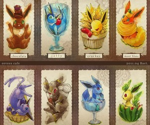 pokemon, eevee, and food image