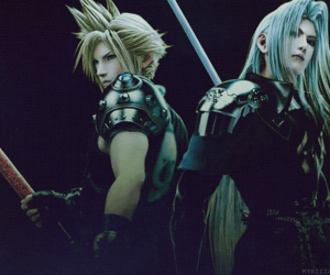 cloud, Sephiroth, and weapon image